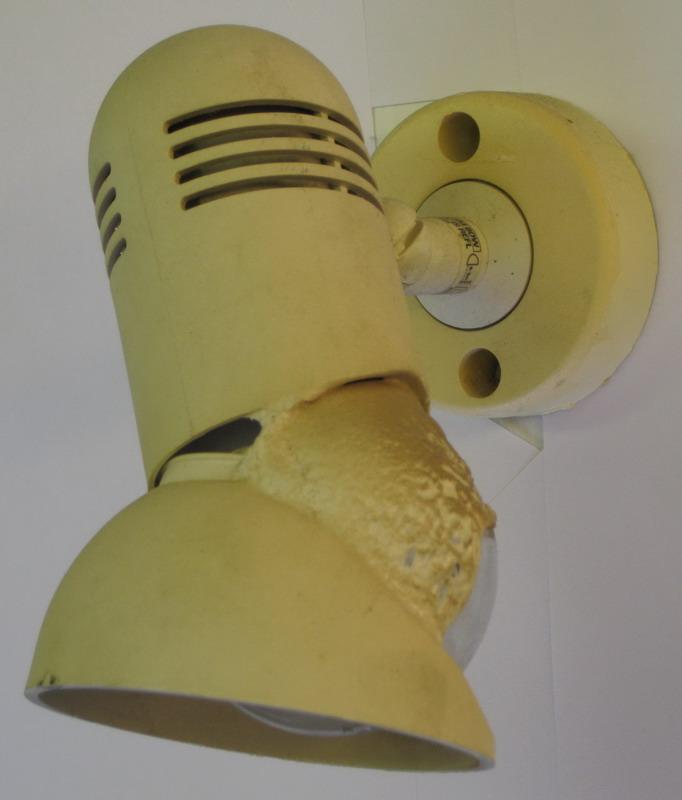Spotlight damaged…